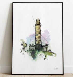 Edinburgh - The Nelson Monument art print