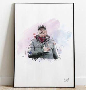 Jurgen Klopp - Liverpool  FC art print