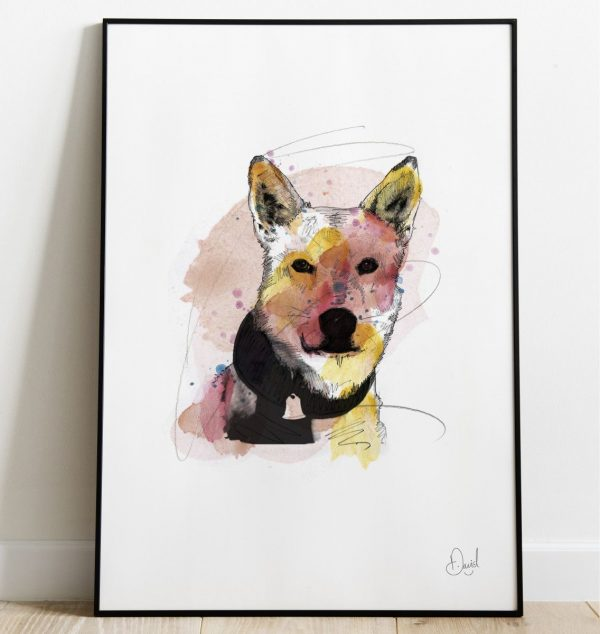 David Marston Art - Starsky And Husky - Dog print