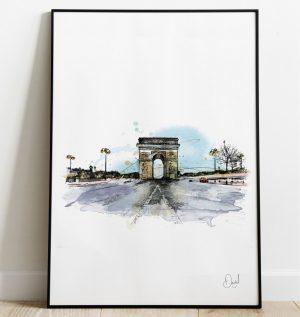 Paris - Arc de Triomphe - Triomphe is ours art print