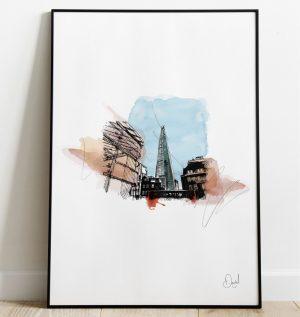 London - The Shard art print