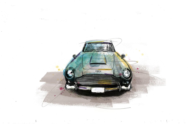 0050 Dm Aston Martin Db5 Dhaken And Stirred Art