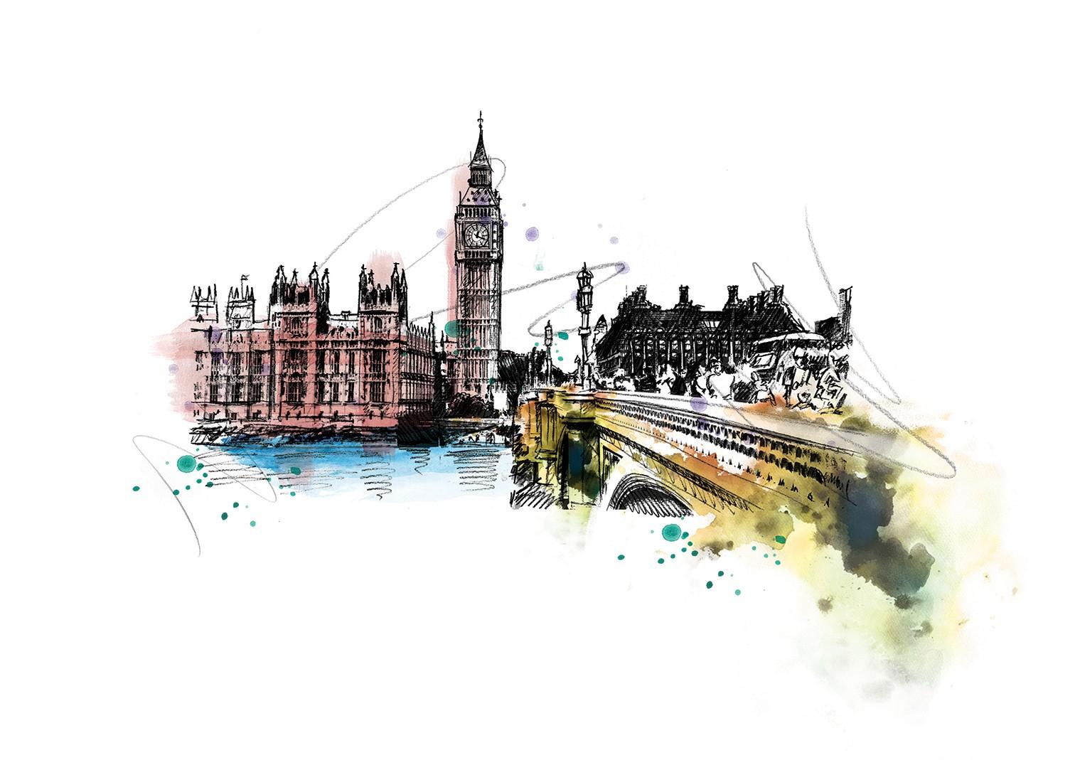 030 Dm London Big Ben Art