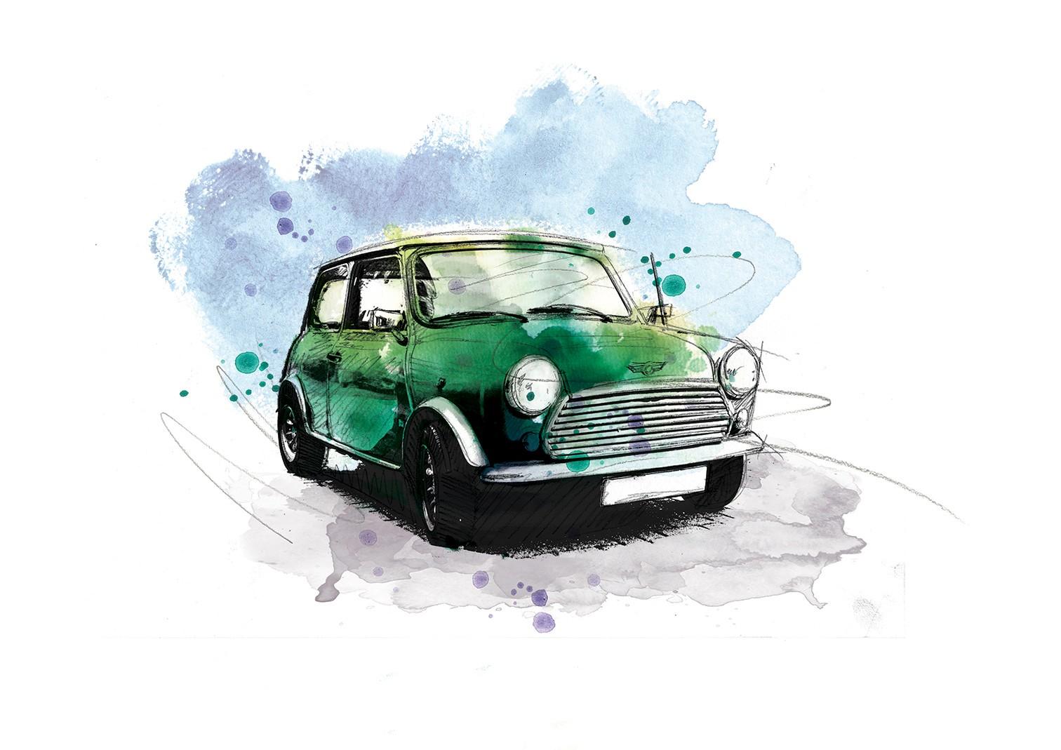 033 Mini Racing Green Art