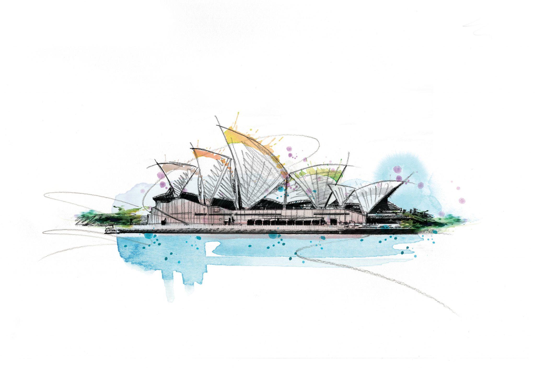 0067 Dm Sydney Opera House Art