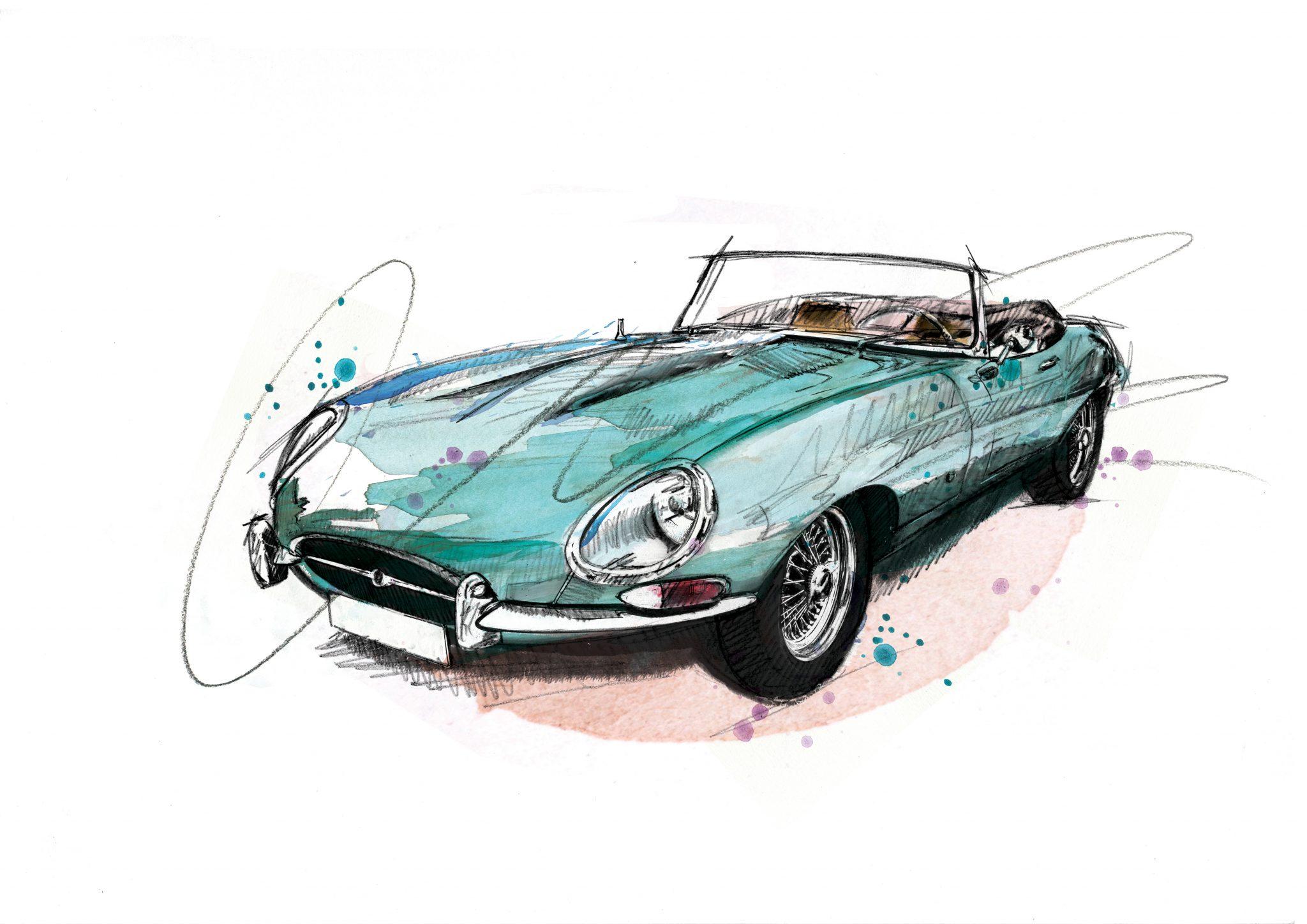 0085 Dm Jaguar E Type Convertible Art