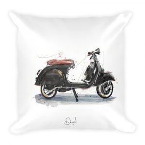 Vespa  - Black and Tan, Cushion