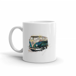 Volkswagen Campervan - Bussing it, Ceramic Mug