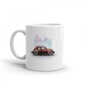 Volkswagen Beetle - Bugged out, Ceramic Mug