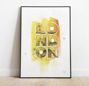 London - Typographic art print
