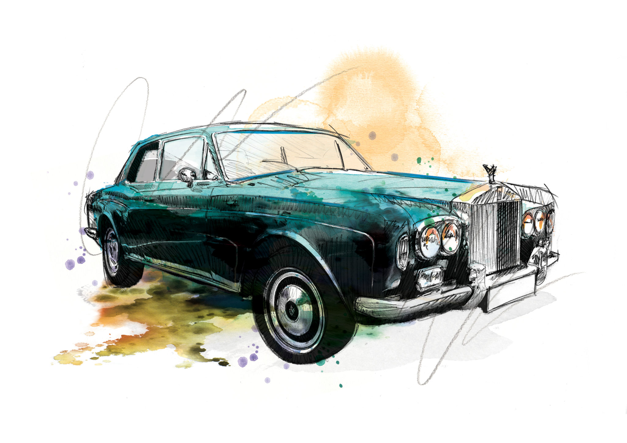 0167 Dm Rolls Royce Continental Drift Art