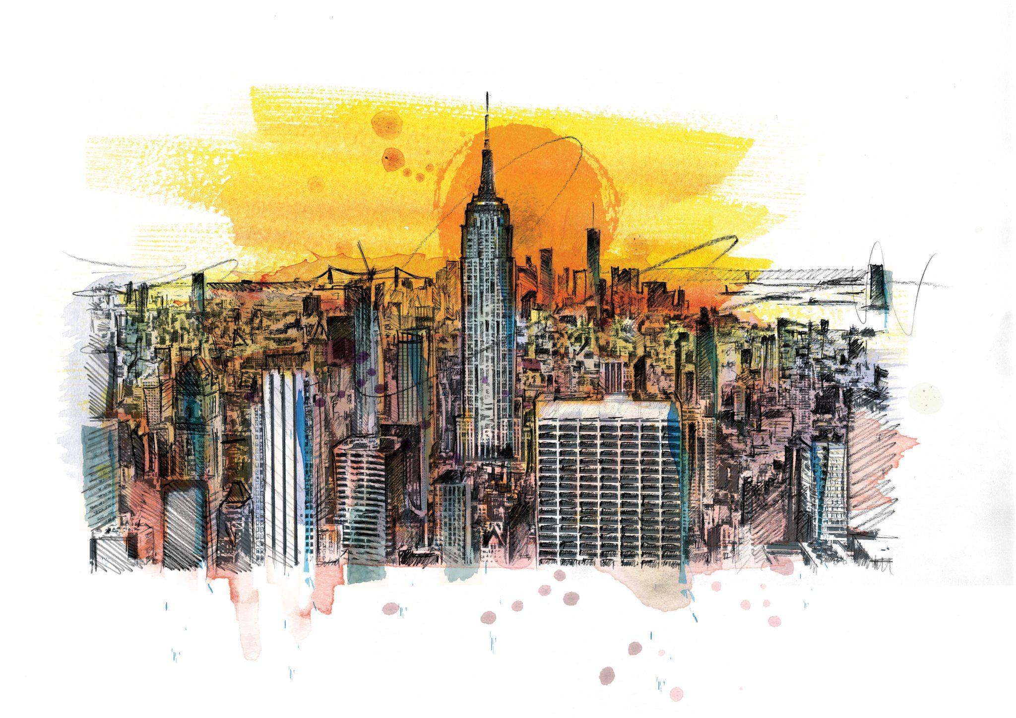 0189 Dm New York Bright Lights Big City Art