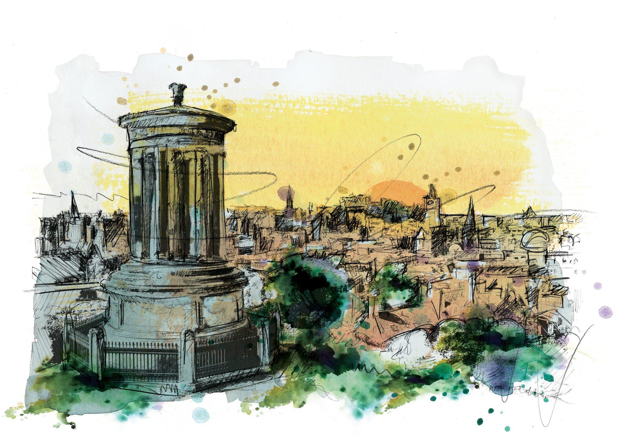 0198 Dm Edinburgh Carlton Hill Art