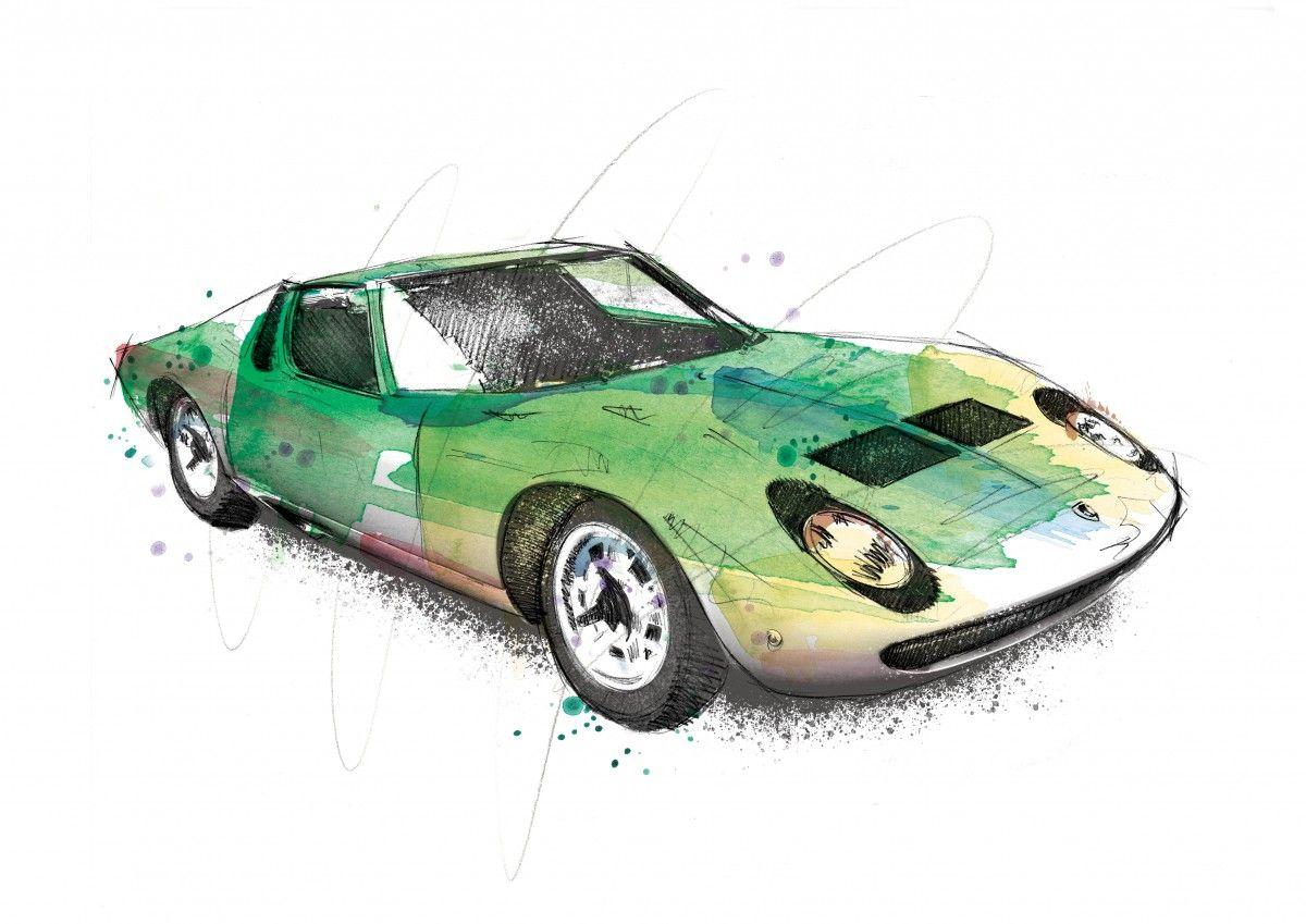 00224 Dm Lamborghini Miura The Raging Bull Art
