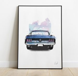 Ford Mustang - Looking back - art print