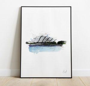 Glasgow SEC - The Armadillo art print