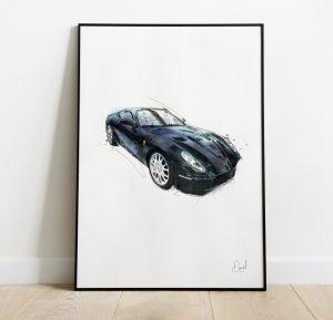 Ferrari California - California dreaming art print