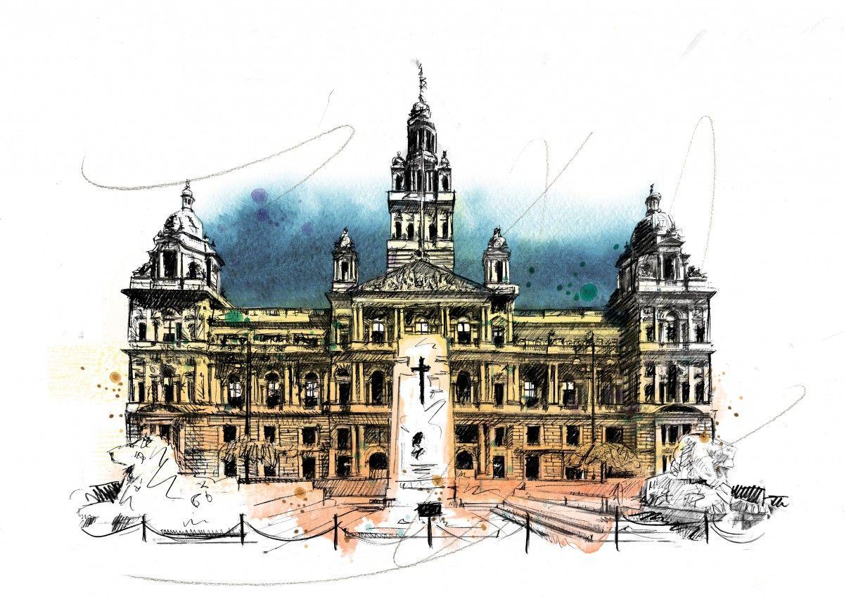 00230 Dm Glasgow City Chambers Art