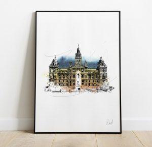 Glasgow - City Chambers art print