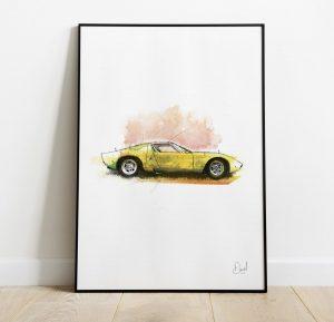 Lamborghini Miura art print