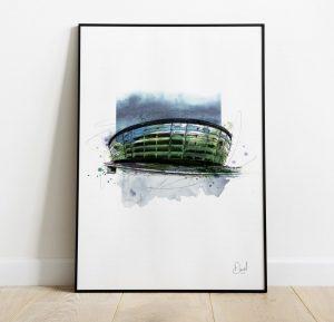 Glasgow - Hydro art print