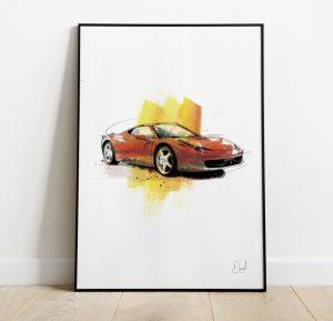 Ferrari Pista  - Taking the Pista art print