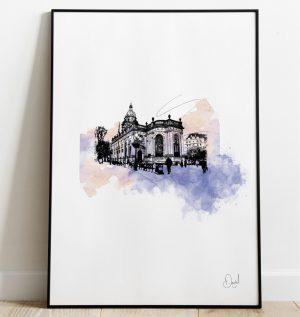 Birmingham - St Philip's Cathedral art print