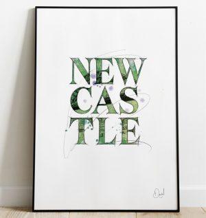 Newcastle Serif - Typographic art print