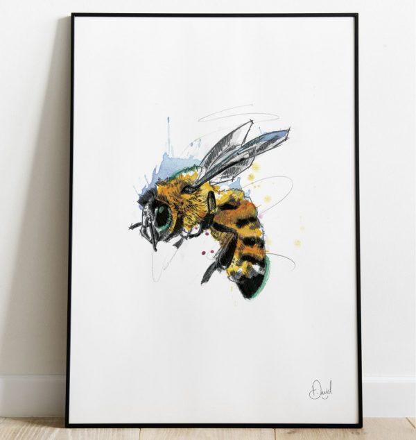 David Marston Art - Don't Worry Bee Happy