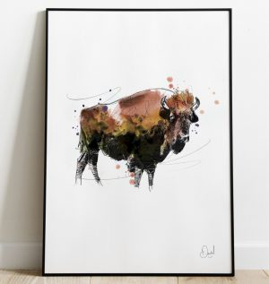Bison, see you later - Bison art print