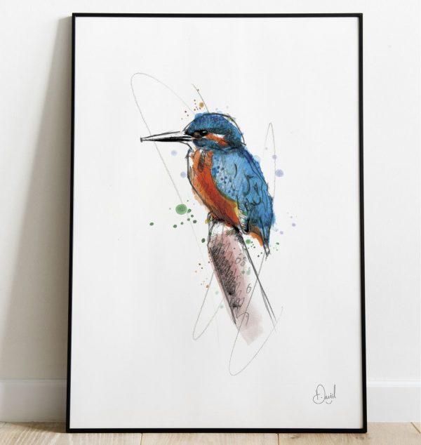 David Marston Art - The Kingfisher And I
