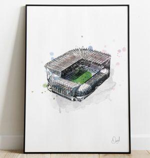 Newcastle United - St James' Park art print