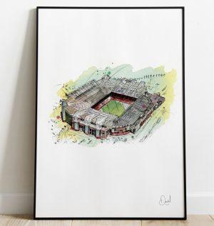 Manchester United - Old Trafford art print