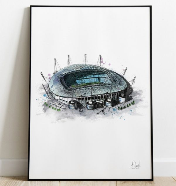 David Marston Art - Manchester City Etihad Stadium