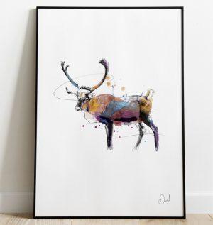 Deer me - Deer art print