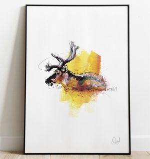 Deer Lord - Deer art print