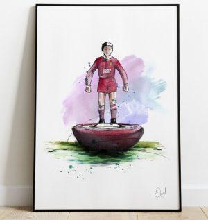 Liverpool  FC - Retro Subbuteo art print