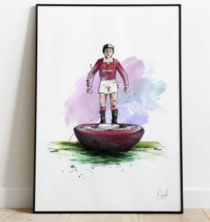 Manchester united FC - Retro Subbuteo art print