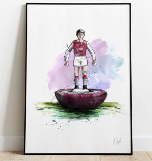 Arsenal FC - Retro Subbuteo art print