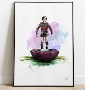 AFC Bournemouth - Retro Subbuteo art print