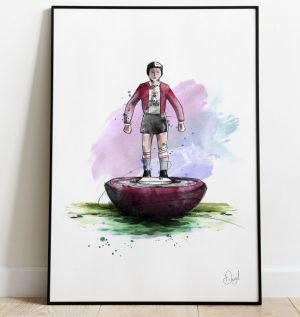 Southampton FC - Retro Subbuteo art print