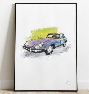 Jaguar E-Type - Just my E-Type art print