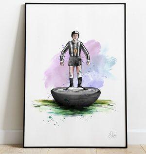 Newcastle United - Retro Subbuteo art print