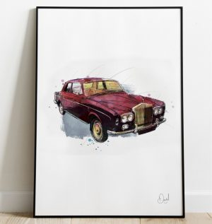 Rolls Royce Continental - Roll with it art print