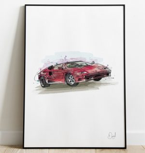 Lamborghini Countach - Big Red Lambo art print