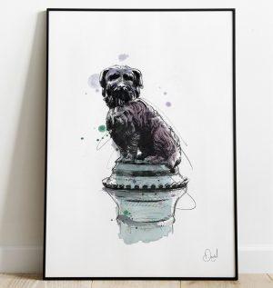 Edinburgh - Greyfriars Bobby art print