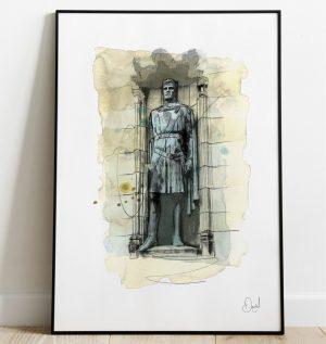 Edinburgh - Robert the Bruce art print
