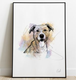 Dog - Aint nothing but a hound dog art print