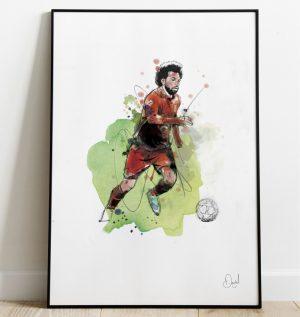 Mo Salah - Liverpool  FC art print