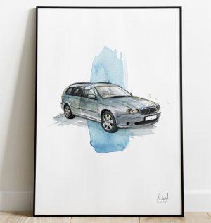Jaguar X-Type Estate art print